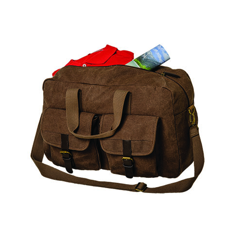 Out of Africa Canvas Duffel Bag with Dual Front Pockets